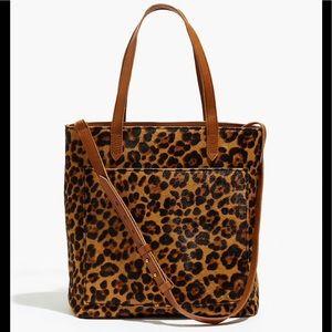 Madewell Medium Transport Tote: Leopard Calf Hair